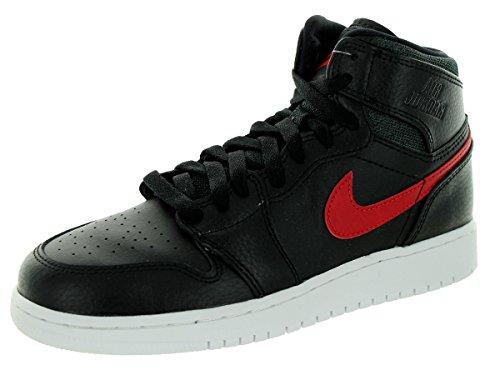 Nike Jungen Air Jordan 1 Retro High BG Basketballschuhe Schwarz