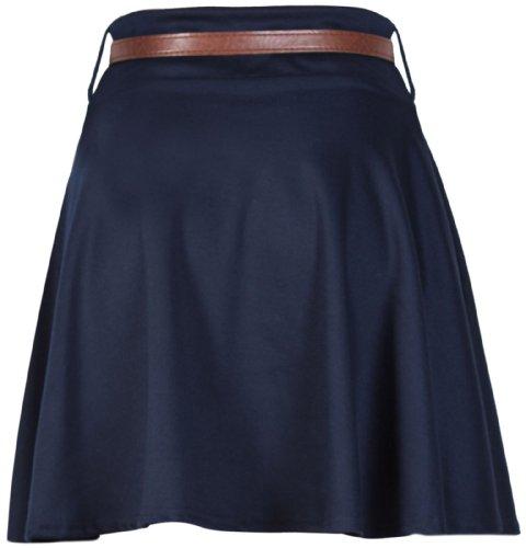 Purple Hanger Falda corta para mujer, con cinturón azul marino