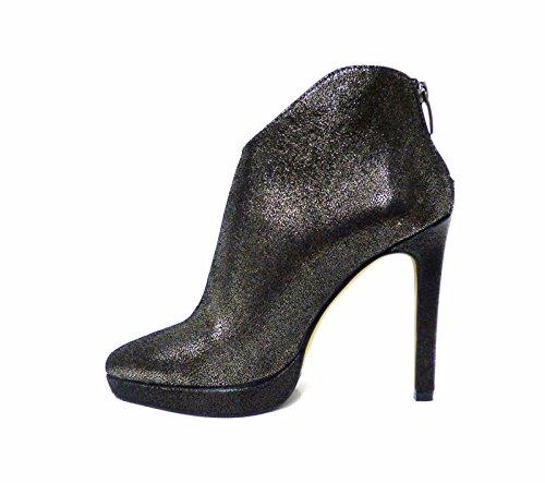 Scarpe donna tronchetto con tacco alto a spillo nero elegante Bruno Premi 5601G