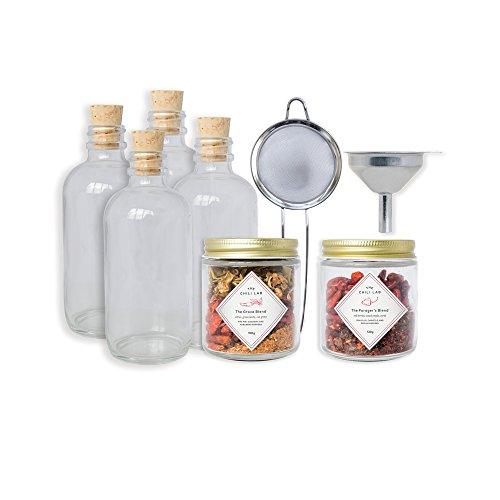 (W&P MAS-HOTKIT Homemade Hot Sauce Kit, Make Your Own Kit, Chili Lab Spice Blend, Home Kit, Kitchen)