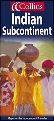 Carte routière : Indian Subcontinent : India, Pakistan, Bangladesh, Nepal, Nad Sri Lanka (en anglais)