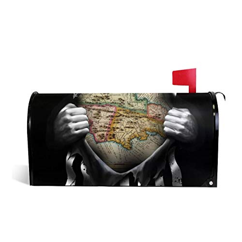 KIIKISS HUG Mailbox Cover Jamaica Map Pull Apart Welcome Magnetic Post Box Wraps Makover MailWrap Garden Home Decor Standard Size 25.5x21 -
