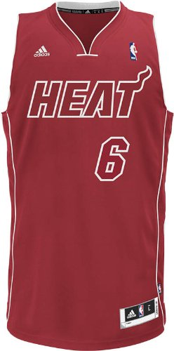 adidas Men's Miami Heat LeBron James Revolution 30 Swingman Pride - Heat Jerseys Mens Miami