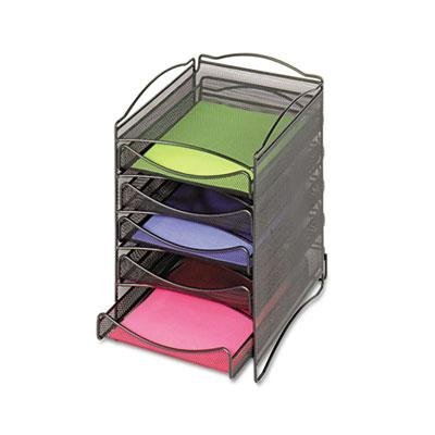 Brand New Safco Onyx Stackable Literature Organizer Five-Drawer Black