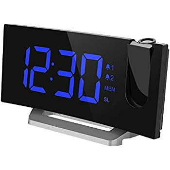 Amazon Com Mpow Projection Clock Fm Radio Alarm Clock