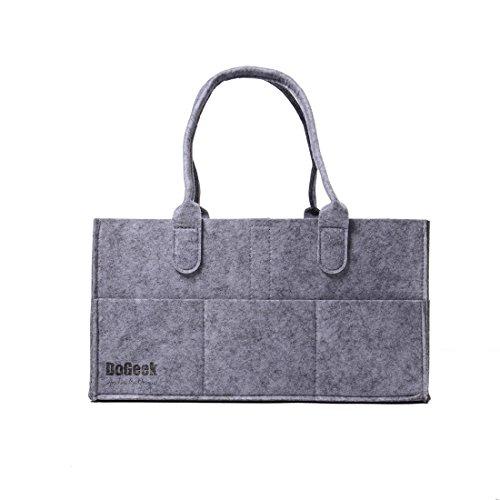 DoGeek-Bolsa De Pañales Del Bebé Mochila de cambios Bolsa para guardar juguetes para bebés,con asa, Gris(gris�?gris