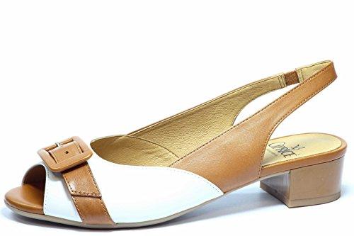 Caprice 9-28116-24 Sandalette Sandalen Nut White 316 Weiß Cognac Braun Walking On Air Damen Leder G-Weite Travella