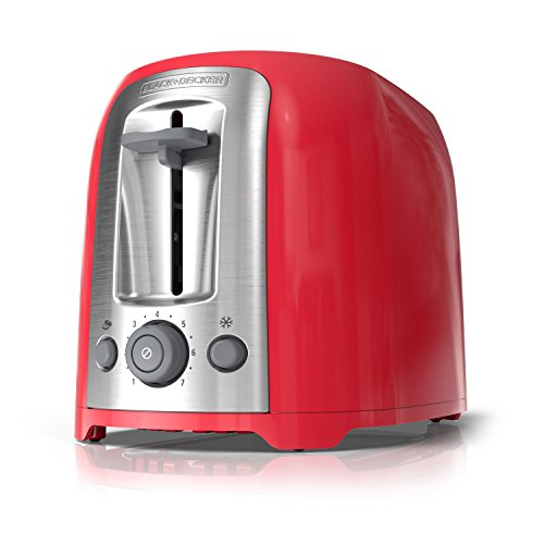 Discount BLACK+DECKER 2-Slice Toaster, Red, TR1278RM