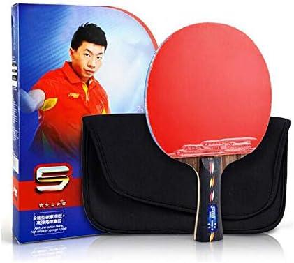 Kalmar 卓球ラケット、5つ星水平ショット、カーボンフロアアンチスティックアークファストアタックラケット、(シングルショットギフトセット) Professional Training/Recreational Racquet Kit