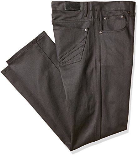 Akademiks Men's Big-tall Culture Denim Jean B&t, Charcoal, 40x34