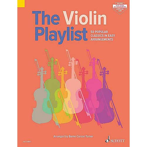 The Violin Playlist (50 Popular Classics in Easy Arrangements) String Series Softcover Audio Online Pack of 2