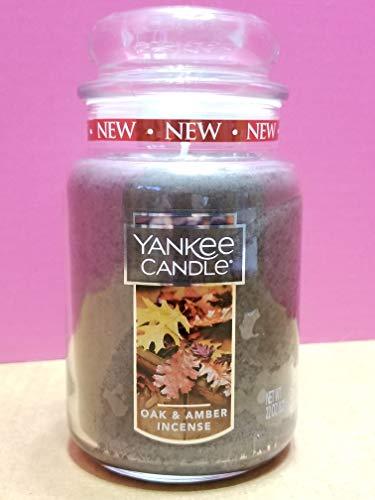 Yankee Candle Oak & Amber Incense Large Jar
