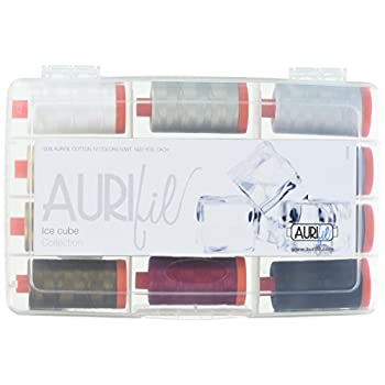 Image of Aurifil Ice Cube Collection 50wt 12 Large Spools Crafts