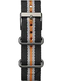 Timex T7B963GZ - Correa para reloj (20 mm, nailon), color negro