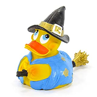 LANCO Witch Halloween Rubber Duck Bath Toy | All Natural, Organic, Eco Friendly, Squeaker | Imported from Barcelona, Spain