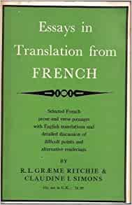 essay french translation Research writing & translation projects for $10 - $30 essay question: although a french king was restored to the throne in 1815, in what ways had the revolution and.