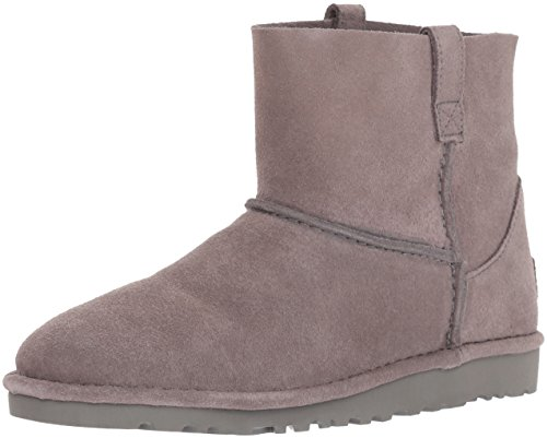 UGG Women's Classic Unlined Mini Slouch Boot, Charcoal, 7 M US