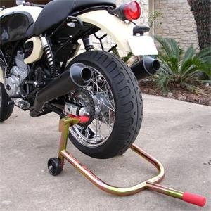 how to put a motorcycle on a rear stand