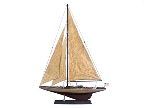 Hampton Nautical Rustic Wooden Ranger Model Sailing Yacht, 35