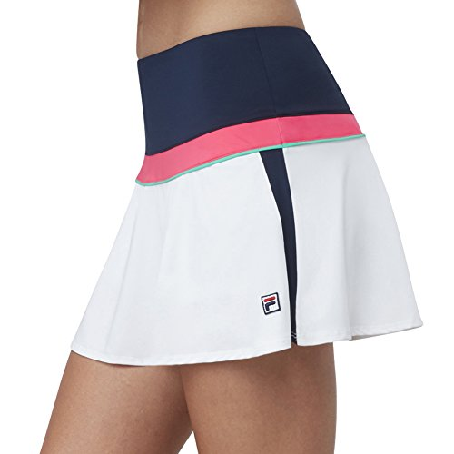 Fila Tennis Skirt - Fila Women's Heritage Colorblock Skort, Navy, White, Diva Pink, Mint, M