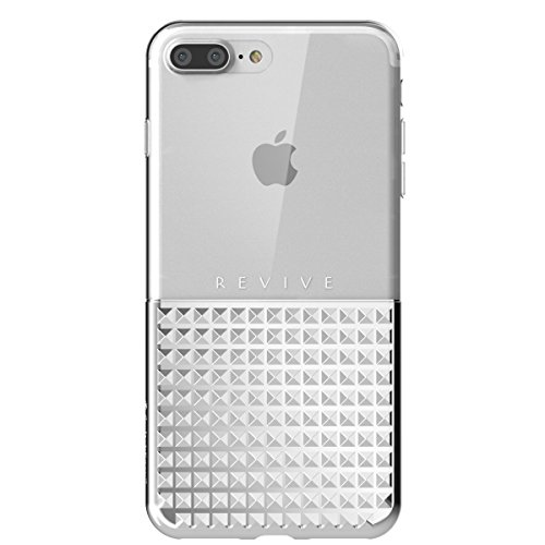 SwitchEasy Revive Metallic Diamond Studs Half Transparent Case for iPhone 7 Plus - Silver