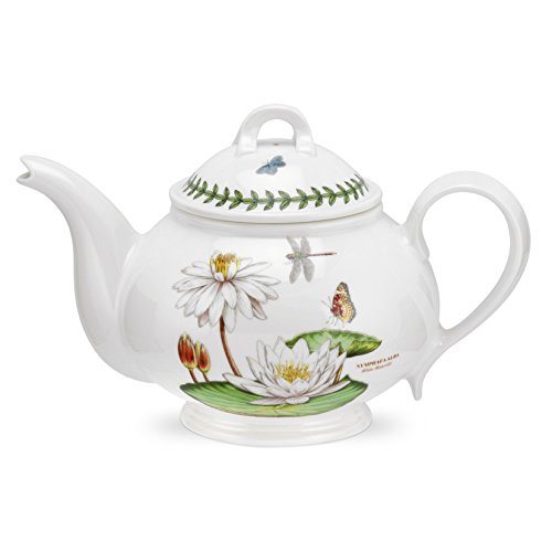 PORTMEIRION EXOTIC BOTANIC GARDEN Teapot romantic shape white water lily