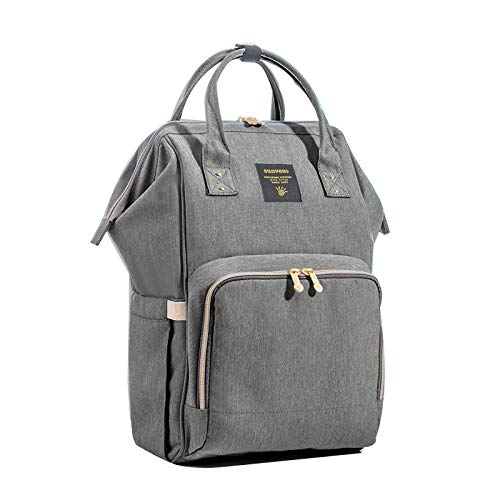 SUNVENO Baby Diaper Bag Backpack Mommy Maternity Nappy Bag Large Travel Insuated Backpack Nursing Bag for Baby Care (Gray) by SUNVENO (Image #6)