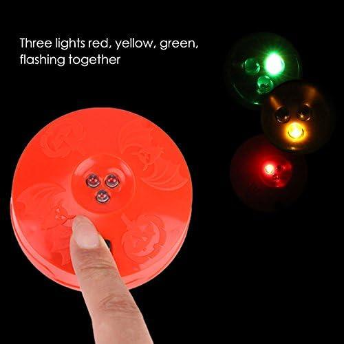 Halloween Spooky Pumpkin LED Strobe Lights Flashing Battery Powered