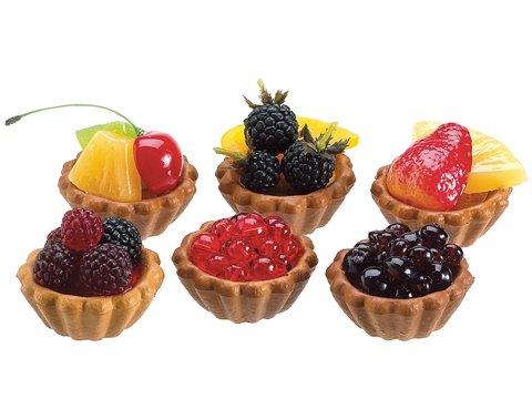 Fake Berry Fruit TARTS strawberry,berry artificial fruit