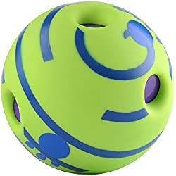 Gathering Giggle Dog Ball Wobble Wag Giggle Ball Dog Play Ball with Funny Sound Keeps Dogs Happy All Day