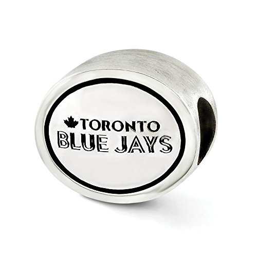 (Jewelry Beads Themed Sterling Silver MLB Siskiyou Buckle Antiqued Toronto Blue Jays Bead)
