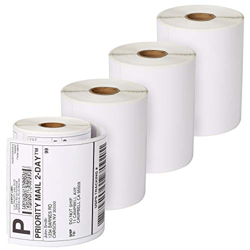 Dymo 4XL Labels 1744907 Compatible 4×6 Extra Large Shipping Labels for Dymo LabelWriter 4XL, 220 Labels per roll, 4 Rolls