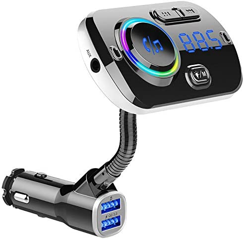 Bluetoothのアップグレードカー用のBluetooth FMトランスミッタは、5.0 USBワイヤレス無線アダプタは、クイック有償、7色のLEDバックライトは、USBフラッシュドライブをサポート
