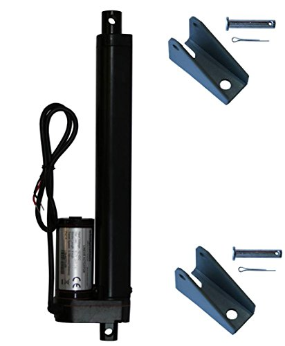 WINDYNATION 8 Inch 8 Stroke Linear Actuator 12 Volt 12V 225 Pounds lbs Maximum Lift (Includes Mounting Brackets)