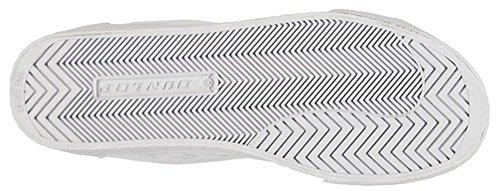 Herren Retro-Stil Canvas Green Flash Schuhe Sneaker Weiß/Grün