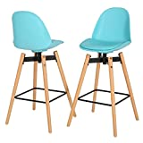 Christopher Knight Home 298371 Phoebe Light Blue Barstool (Set of 2)