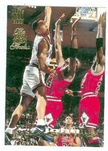 John Starks basketball card (New York Knicks) 1993 Topps Stadium
