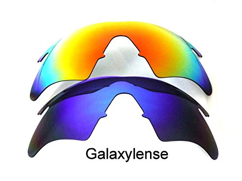 Galaxy Replacement Lenses For Oakley M Frame Heater Blue&Red 2 - 2 Frame M Oakley