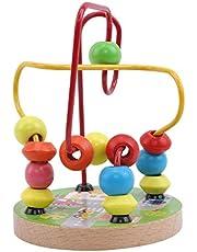 Juguete de madera colorido del bloque hueco del rollo de alambre de laberinto for los niños Educación y juguetes de aprendizaje del juego alrededor de los juguetes for niños Beads ( Color : City )