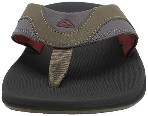 Reef Men's Fanning Sandal, Olive/Rust, 150 M US by Reef (Image #4)