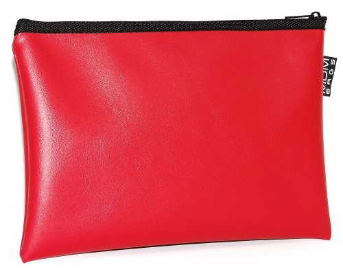 - MDM Security Bank Deposit / Utility Zipper, Coin Bag, 14x10 Inches/Red Money Bag.
