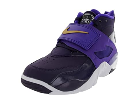 Nike Men's Air Diamond Turf Purple Dynsty/Mtllc Gld/Elctr Pr Training Shoe 11 Men US (Nike Diamond Cross)