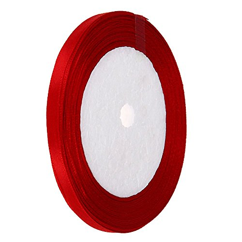 Vaselonsa 1 4 Quot 6mm 25 Yard Silk Ribbon Wedding Party Gift Wrap Red - Arts Silk White Hand Flowers Pink Samples Thick Necklaces Making Undyed Ties Books Bracelet Gold Keychain Roll Headba