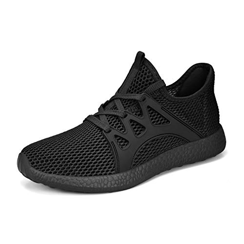 Simasoo Women Walking Shoes Hiking Running Sports Comfortable Mesh Basketball Gym Sneakers Black 9 ()