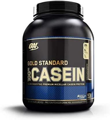 OPTIMUM NUTRITION GOLD STANDARD 100% Micellar Casein Protein Powder, Slow Digesting, Helps Keep You Full, Overnight Muscle Recovery, Chocolate Supreme, 4 Pound , 53 servings