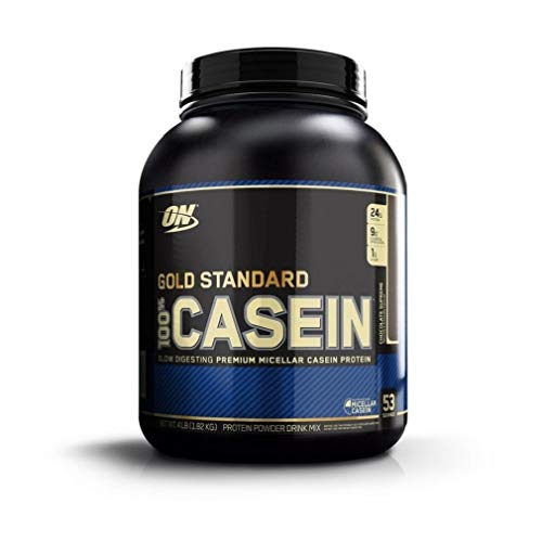 (OPTIMUM NUTRITION GOLD STANDARD 100% Micellar Casein Protein Powder, Slow Digesting, Helps Keep You Full, Overnight Muscle Recovery, Chocolate Supreme, 4 Pound , 53 servings)