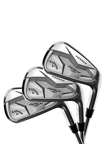 Callaway Golf 2019 Apex Pro Irons Set (Set of 8 Total Clubs: 3-9 Iron, PW, Right Hand, Steel, Stiff Flex) (Best Forged Irons 2019)