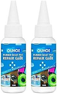 2PCS 30ML Waterproof PVC Pool Patch Adhesive Glue, Airtight Liquid Patch Repair Kit, Vinyl Liner Pool Repair G