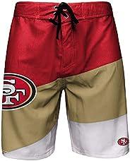 FOCO NFL San Francisco 49ers Mens Color Dive Swim Boardshorts, Team Color, M