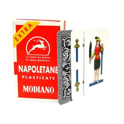 Modiano Italian Regional Napoletane 9725 Playing Cards - 1 Deck: Sports & Outdoors